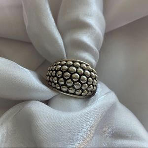 Sterling Silver Granulation drop ring